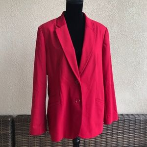 Chico's City Chic Blazer Sultry Red NEW NWT Size 3
